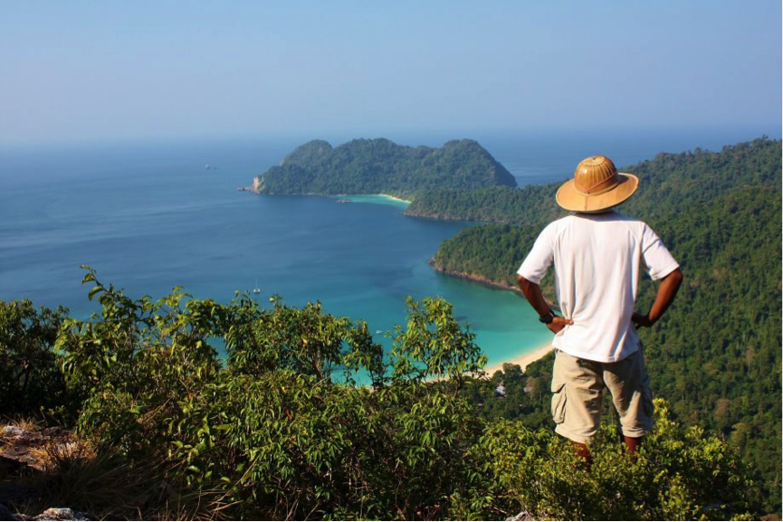 Image of lookout at Macleod Island, Burma